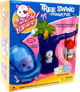 Zhu Zhu Babies Playset Tree Swing & Power Pod [Hamster & Babies Not Included!]