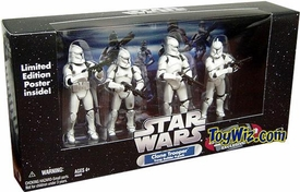 Star Wars Exclusive Clone Trooper Army Builder All White Battle Damaged 4-Pack