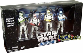 Star Wars Exclusive Clone Trooper Army Builder Command Troopers 4-Pack
