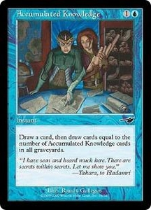 Magic the Gathering Nemesis Single Card Common #26 Accumulated Knowledge
