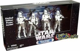 Star Wars Exclusive Clone Trooper Army Builder All White 4-Pack
