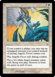 Magic the Gathering Nemesis Single Card Uncommon #1 Angelic Favor
