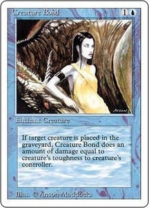 Magic the Gathering Revised Edition Single Card Common Creature Bond