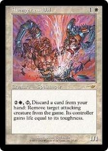 Magic the Gathering Nemesis Single Card Rare #2 Avenger en-Dal Played Condition Not Mint