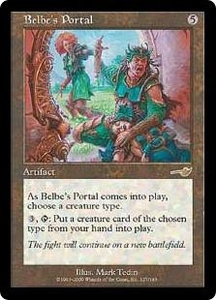Magic the Gathering Nemesis Single Card Rare #127 Belbe's Portal Played Condition Not Mint