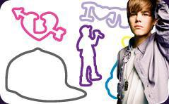 Silly Bandz Shaped Rubber Bands Bracelets 6-Pack Justin Bieber