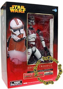 Star Wars Revenge of the Sith Kotobukiya Deluxe Exclusive 1/7 Pre-Painted Vinyl Statue E3 Red Shock Clone Trooper