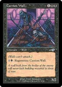 Magic the Gathering Nemesis Single Card Uncommon #54 Carrion Wall