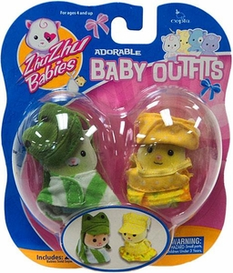 Zhu Zhu Babies Adorable Baby Outfits 2-Pack Frog & Yellow Polka Dots