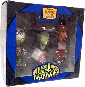 NECA Tim Burton's The Nightmare Before Christmas Exclusive Head Knockers 3-Pack Lock, Shock & Barrel