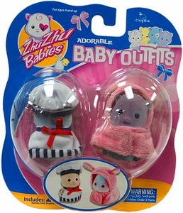 Zhu Zhu Babies Adorable Baby Outfits 2-Pack Sailor & Pink Bunny