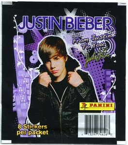 Justin Bieber Panini Album Sticker Pack [8 Stickers]
