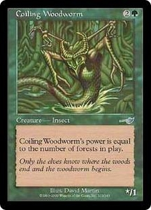 Magic the Gathering Nemesis Single Card Uncommon #103 Coiling Woodworm