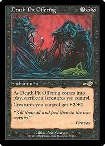 Magic the Gathering Nemesis Single Card Rare #56 Death Pit Offering