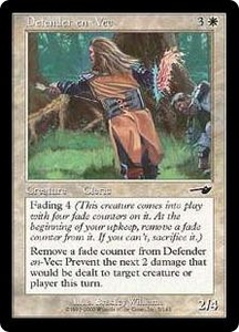 Magic the Gathering Nemesis Single Card Common #5 Defender en-Vec Foil!