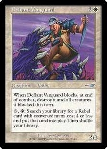 Magic the Gathering Nemesis Single Card Uncommon #7 Defiant Vanguard