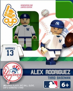 OYO Baseball MLB Building Brick Minifigure Alex Rodriguez [New York Yankees]