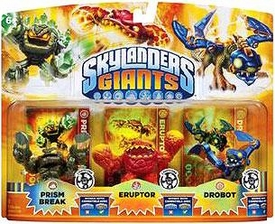 Skylanders GIANTS Exclusive Lightcore Figure 3-Pack Prism Break, Eruptor & Drobot