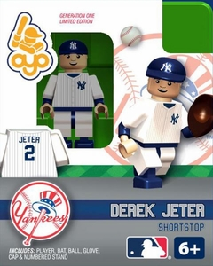 OYO Baseball MLB Building Brick Minifigure Derek Jeter [New York Yankees]