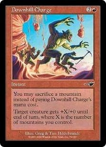 Magic the Gathering Nemesis Single Card Common #79 Downhill Charge