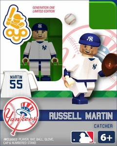OYO Baseball MLB Building Brick Minifigure Russell Martin [New York Yankees]