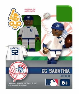 OYO Baseball MLB Building Brick Minifigure CC Sabathia [New York Yankees]