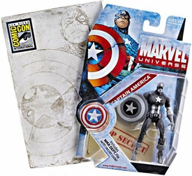 Marvel Universe 2009 SDCC San Diego Comic-Con Exclusive 3 3/4 Action Figure Captain America {Gray Scale} [Black & White]