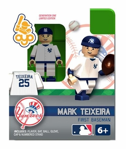 OYO Baseball MLB Building Brick Minifigure Mark Teixeira [New York Yankees]