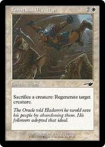 Magic the Gathering Nemesis Single Card Common #8 Fanatical Devotion