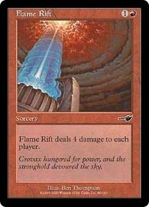 Magic the Gathering Nemesis Single Card Common #80 Flame Rift