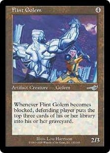 Magic the Gathering Nemesis Single Card Uncommon #130 Flint Golem