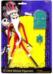 NECA Tim Burton's The Nightmare Before Christmas Limited Edition Bendable Figure Jack Skellington [Santa]