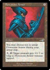 Magic the Gathering Nemesis Single Card Uncommon #131 Flowstone Armor