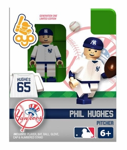 OYO Baseball MLB Building Brick Minifigure Phil Hughes [New York Yankees]