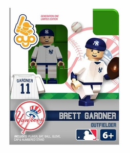OYO Baseball MLB Building Brick Minifigure Brett Gardner [New York Yankees]