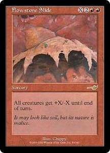 Magic the Gathering Nemesis Single Card Rare #83 Flowstone Slide