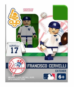 OYO Baseball MLB Building Brick Minifigure Francisco Cervelli [New York Yankees]