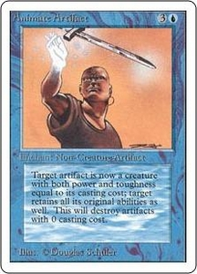 Magic the Gathering Unlimited Edition Single Card Uncommon Animate Artifact
