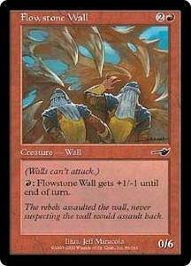 Magic the Gathering Nemesis Single Card Common #86 Flowstone Wall