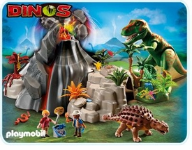 Playmobil Dinos Set #5230 Volcano with Tyrannosaurus