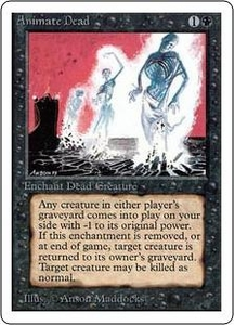 Magic the Gathering Unlimited Edition Single Card Uncommon Animate Dead