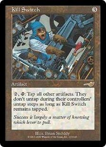 Magic the Gathering Nemesis Single Card Rare #133 Kill Switch Played Condition Not Mint
