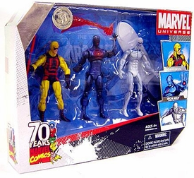 Marvel Universe 3.75 Inch Exclusive Action Figure 3-Pack 70 Years Marvel Comics [Daredevil, Stealth Operations Iron Man & Silver Surfer]