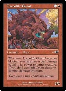 Magic the Gathering Nemesis Single Card Common #87 Laccolith Grunt