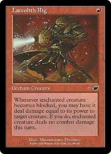 Magic the Gathering Nemesis Single Card Common #88 Laccolith Rig