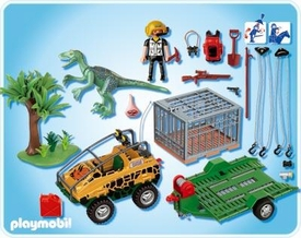 Playmobil Dinos Set #4175 Amphibian Vehicle with Deinonychus