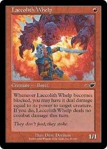Magic the Gathering Nemesis Single Card Common #91 Laccolith Whelp