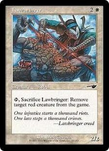 Magic the Gathering Nemesis Single Card Common #10 Lawbringer