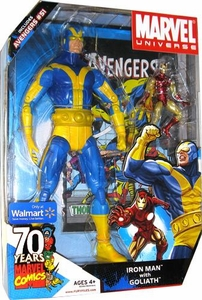 Marvel Universe Exclusive Action Figure 2-Pack Iron Man & 12 Inch Goliath {Blue & Yellow} [Includes Avengers #51]