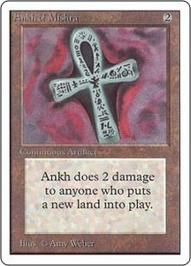 Magic the Gathering Unlimited Edition Single Card Rare Ankh of Mishra